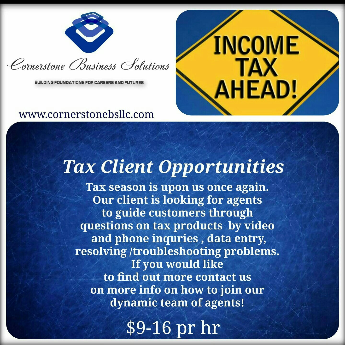 Tax Client Opportunity! $15+ Per Hr